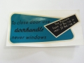 Glove Box Sticker 62-67